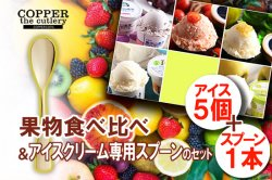 ご当地アイス 商品一覧 【全国】 旬 果物アイス 食べ比べ+アイスクリーム専用スプーン セット(5個+1本)