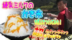 濃厚 バニラアイスクリーム 超ふわふわの練乳みるくのかき氷を屋上で作ってみた!