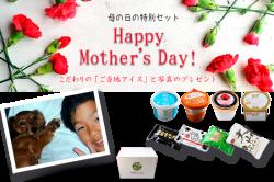 母の日 【母の日仕様】ご当地アイス8個+生写真のプレゼント!