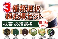 濃厚 バニラアイスクリーム 超豪華!3種類選択セット(C.抹茶必須)