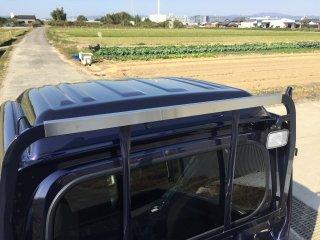 ハイゼットジャンボ S500P/ S510P S500P/S510P用ハイゼットジャンボ・ハイルーフ 鳥居カバー(ステンレスヘアライン)