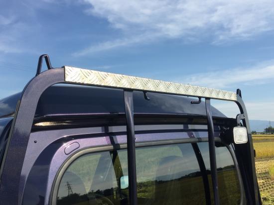 S500P/S510P用ハイゼットジャンボ・ハイルーフ鳥居カバー(アルミ縞板)