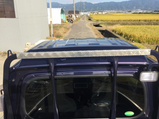 S500P/S510P用ハイゼットジャンボ・ハイルーフ鳥居カバー(アルミ縞板)【画像2】