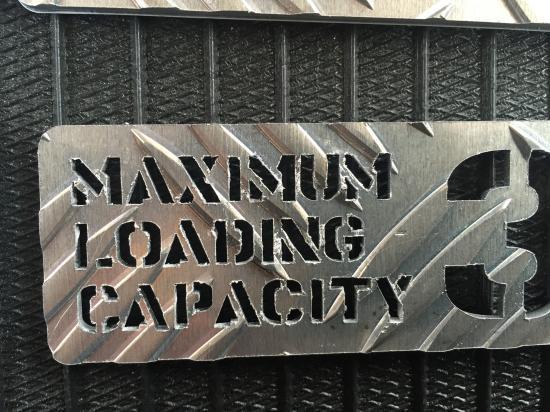 最大積載量プレート350Kg(アルミ縞板)【画像2】