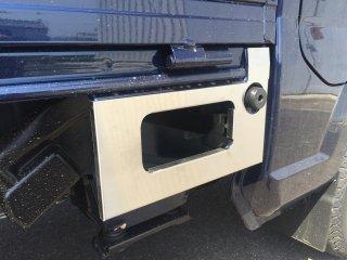 軽トラ用 ステップ・リアコーナー・リア・道具箱カバー キャリイDA16T標準車用 ステップカバー(ステンレスヘアライン)