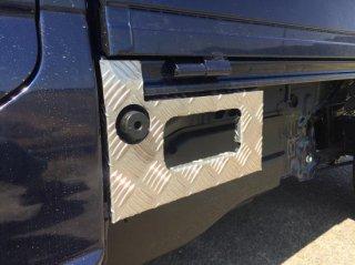 軽トラ用 ステップ・リアコーナー・リア・道具箱カバー キャリイDA16T標準車用 ステップカバー(アルミ縞板)
