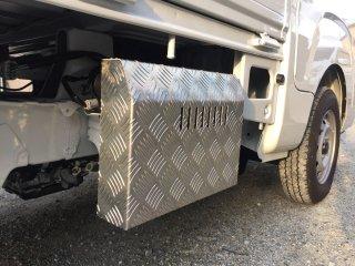 軽トラ用 ステンレス・アルミ縞板バッテリーカバー ハイゼットS500/S510用 アルミ縞板バッテリーカバー