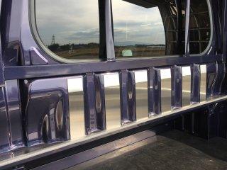 軽トラ用・キャビンバックパネルカバー ハイゼットジャンボS500P/S510P用 キャビンバックパネル上カバー(ステンレス)