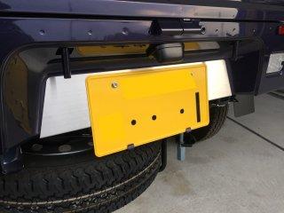 軽トラ用 ステップ・リアコーナー・リア・道具箱カバー ハイゼットS500P/S510P用 荷台リアパネル(ステンレス)