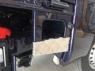 軽トラ用 ステップ・リアコーナー・リア・道具箱カバー S500P/S510P用ハイゼット標準車 ステップカバー(アルミ縞板)