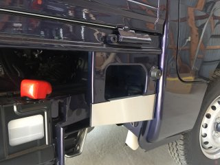 軽トラ用 ステップ・リアコーナー・リア・道具箱カバー S500P/S510P用ハイゼット標準車 荷台ステップカバー(ステンレス)