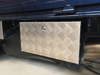 軽トラ用 ステップ・リアコーナー・リア・道具箱カバー DA16Tキャリイ標準車 道具箱カバー(アルミ縞板)
