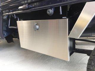軽トラ用 ステップ・リアコーナー・リア・道具箱カバー ハイゼットS500P/S510P用 道具箱カバー(ステンレス)