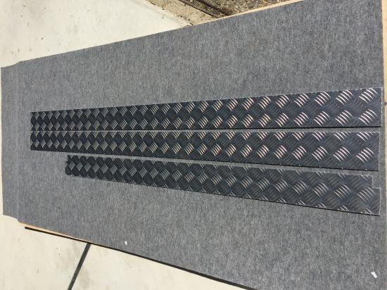 S500P/510P用ハイゼットジャンボ  荷台あおり内 アルミ縞板プレート(3辺セット) 【画像2】