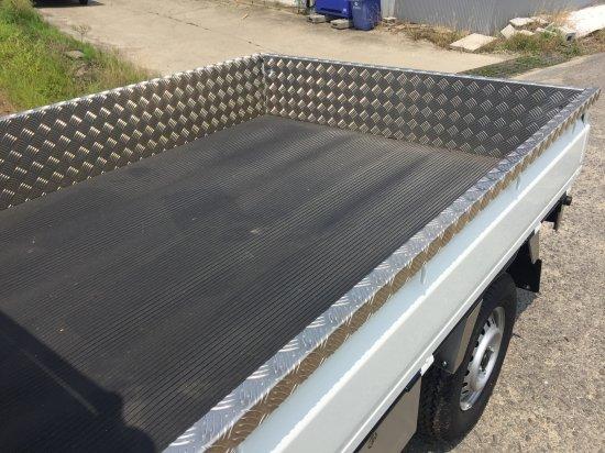 DA63T用キャリイ 荷台あおりカバー内板一体式 アルミ縞板 (3辺セット)