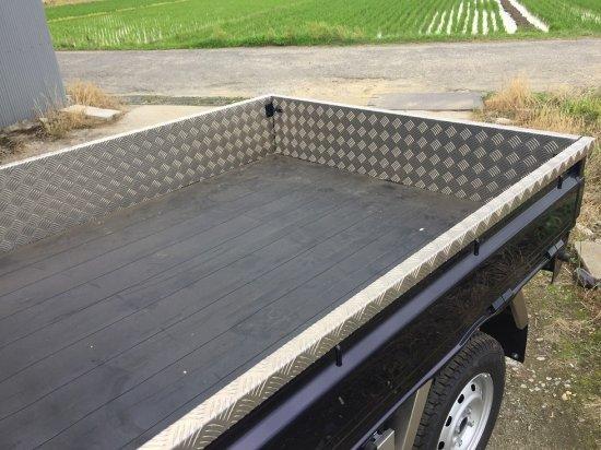 DA16T用キャリイ標準車 荷台あおりカバー内板一体式 アルミ縞板 (3辺セット)