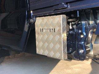 軽トラ用 ステンレス・アルミ縞板バッテリーカバー スーパーキャリイ DA16T用 アルミ縞板バッテリーカバー