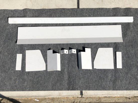 ハイゼットジャンボS500P/S510P用 キャビンバックパネル下カバーフルキット(ステンレス)【画像4】