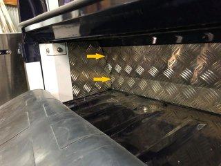 2019/2/12 ハイゼットジャンボ・キャビンバックパネル下カバーの追加パーツの試作品完成からのー早速型合わせしましたー
