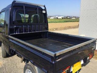 ダイハツ ハイゼットジャンボ用 S500P/510P用ハイゼットジャンボ あおりステンレスカバー(3辺セット)