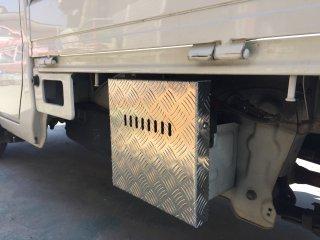 軽トラ用 ステンレス・アルミ縞板バッテリーカバー キャリイDA63T用 アルミ縞板バッテリーカバー