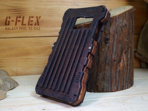 Galaxy Feel ミリタリー ウッドケース バンパー 耐衝撃 フルカバー  TYPE02 カスタム ハンドメイド  木製 木のケ…