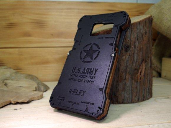 Galaxy Feel SC-04J ウッドケース バンパー  耐衝撃 タフケース  ミリタリー ハンドメイド  木製 木のケース  USアーミー Dブラ…