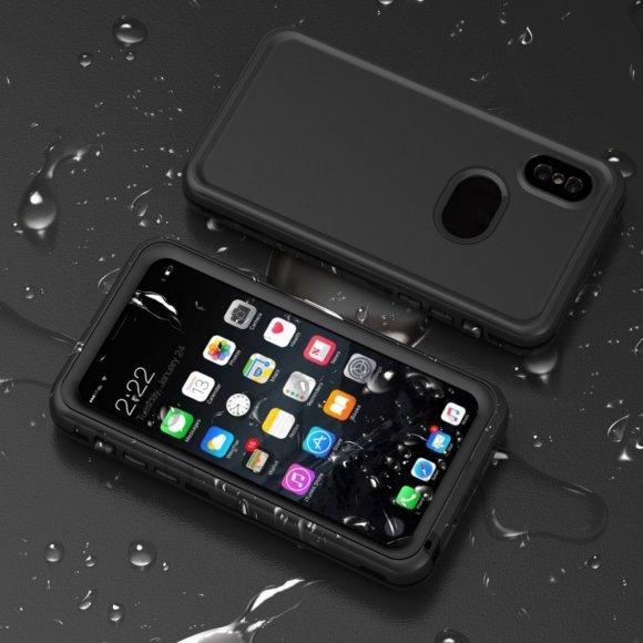 iPhone X 防水 ケース 耐衝撃・防塵 タフケース ミリタリー シンプルでスリム IP8-WP02