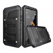 fe185eb91c ... iPhone X 耐衝撃 タフケース 防水 アルミ 防塵 軽量 メタル フルカバー ミリタリー 最強系メタルケース IP68 ...