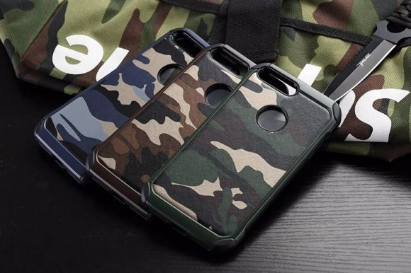 iPhone8 plus 耐衝撃 タフケース ミリタリー 迷彩 2重構造のアーマーギア かっこいいアーミースタイルのケース