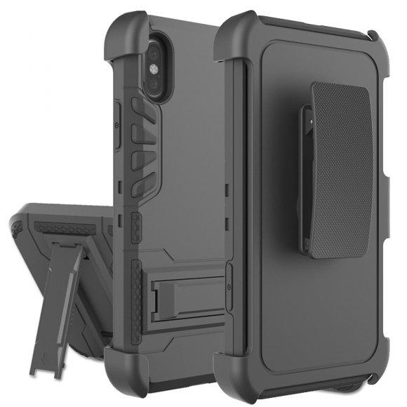 iPhone X タフケース 耐衝撃 ミリタリー 2重構造 ホルスター付き   アイフォン10 アーマーケース