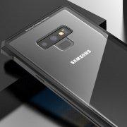 Galaxy Note9 アルミバンパー 耐衝撃 背面強化ガラス付き アルマイト仕上げ メタルサイドバンパー タフケース