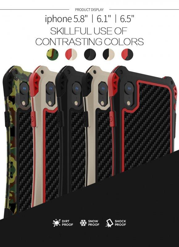 ebd8345711 iPhone XR 耐衝撃 ミリタリーケース アウトドア 軽量 メタルフレーム ...