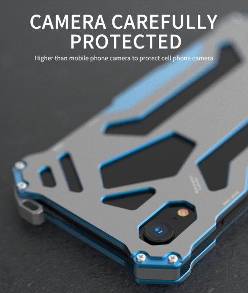 4f7d469c9b iPhone XR アルミケース フルメタル フレーム バンパー 耐衝撃 タフケース かっこいい 軽量 メタルアーマーフレー…