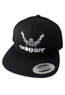 CONVICT ベースボールキャップ アイコン BLACK