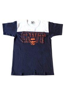 CONVICT フットボールTシャツ NAVY/WHITE/ORANGE