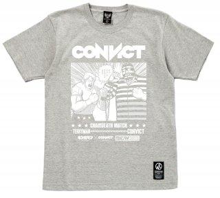 キン肉マン×CONVICT Tシャツ チェーンデスマッチ GRAY