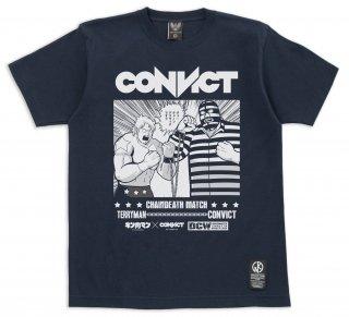 キン肉マン×CONVICT Tシャツ チェーンデスマッチ NAVY