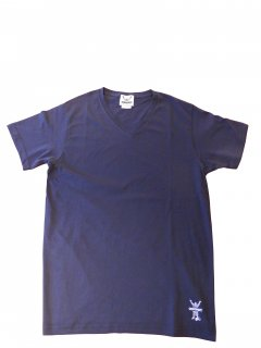CONVICT VネックTシャツ NAVY