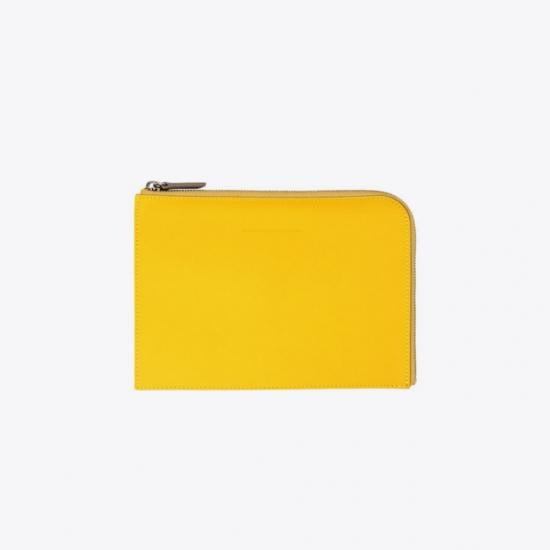WANT Les Essentiels de la Vie WAX COATED SMALL DOCUMENT CASE
