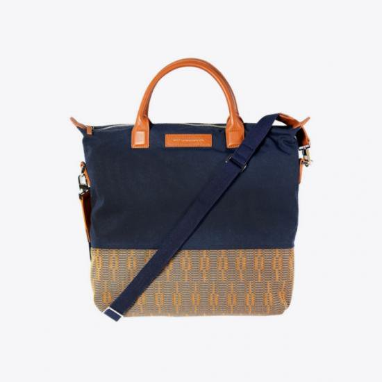 WANT Les Essentiels de la Vie COTTON & LEATHER TOTE BAG