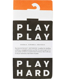 Play Hard - Back pocket Notebooks