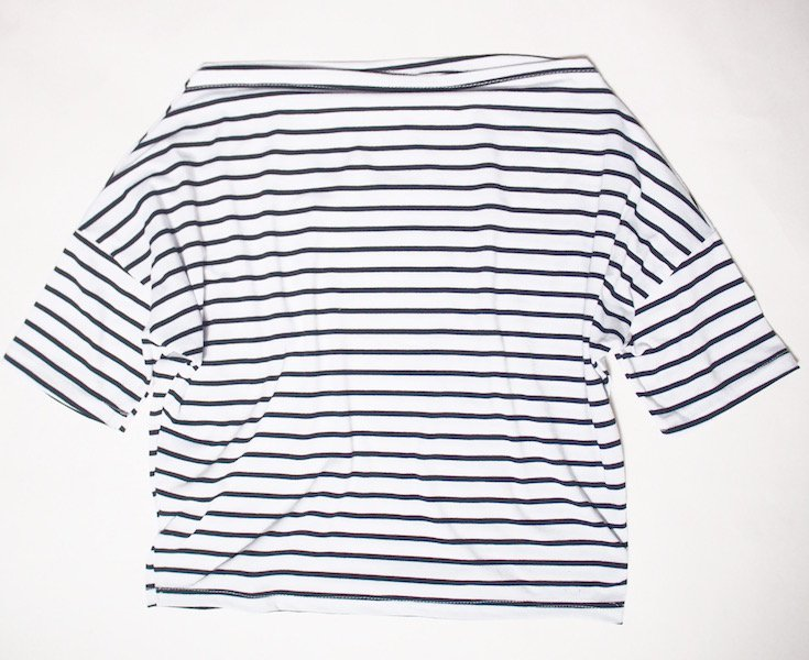 border boatneck 3way tops