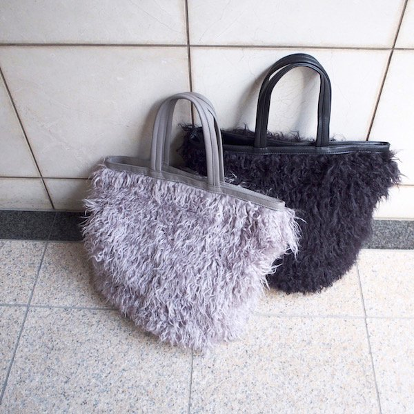 fur big tote bag