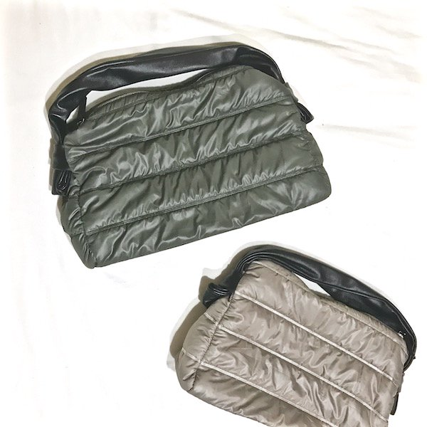 nylon MA1 ram leather BAG