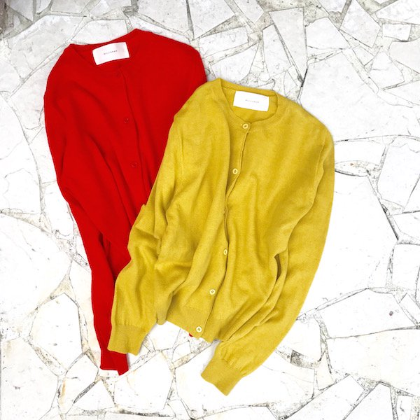 vivid color knit cardigan