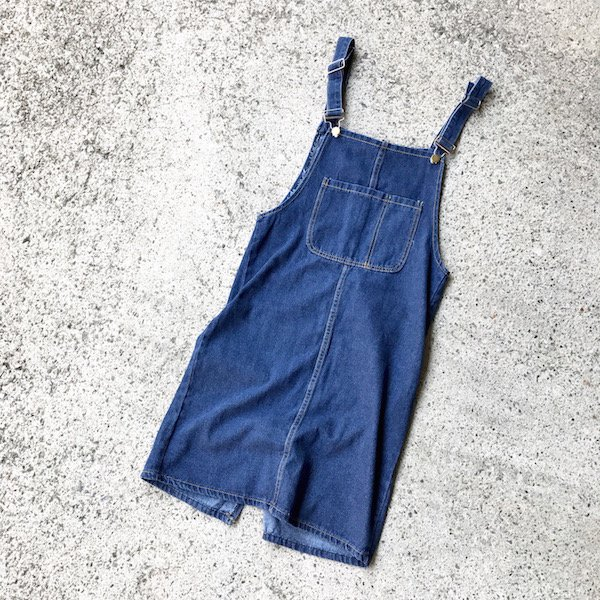 denim salopette skirt