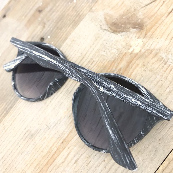 wood flash mirror sunglasses
