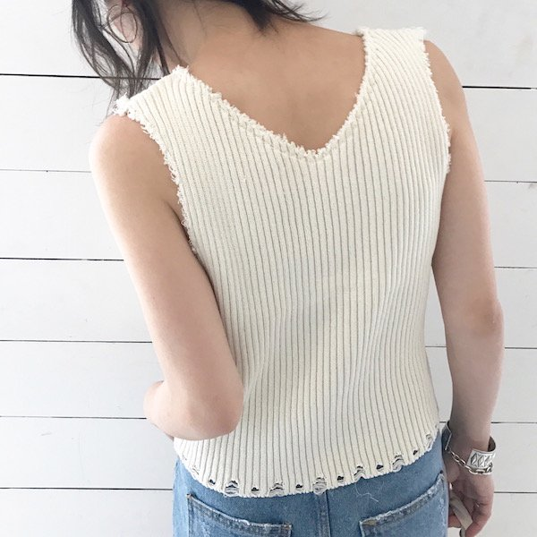 lib cutting knit tank top