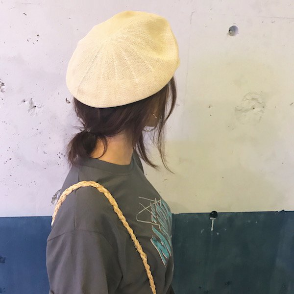 straw bi-color casquette